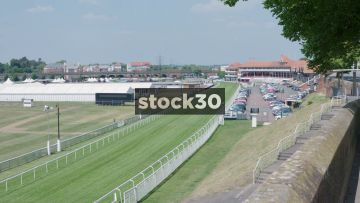 Chester Race Course Spectator Stand Wide And Close, UK