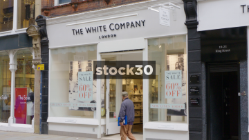 The White Company On King Street In Manchester, UK