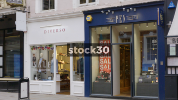 Diverso And The Pen Shop On King Street In Manchester, UK