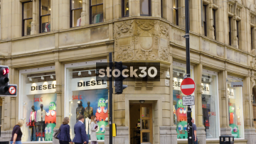 Diesel Store On The Corner Of Cross Street And King Street In Manchester, UK