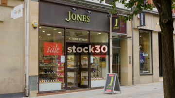 Jones Bootmaker On King Street In Manchester, UK