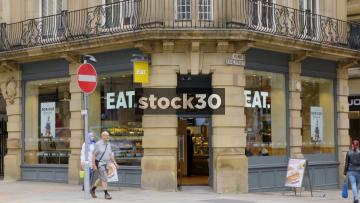 Eat On The Corner Of King Street In Manchester, UK