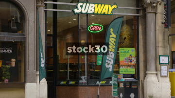 Subway Sandwich Shop On Cross Street In Manchester. UK