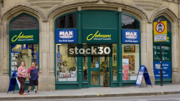 Max Spielmann And Johnson's Cleaners On Cross Street In Manchester, UK