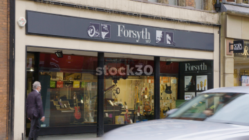 Forsyth Music Shop On Deansgate In Manchester, UK