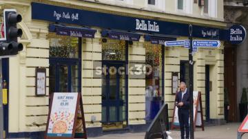 Bella Italia Restaurant On Deansgate In Manchester, UK