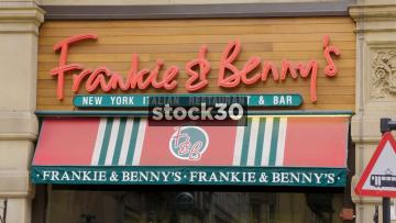 Frankie & Benny's Italian Restaurant On St.Ann's Street In Manchester, UK