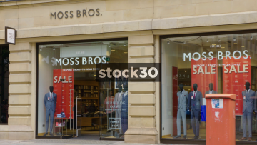 Moss Bros At St.Ann's Square In Manchester. UK