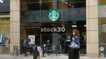 Starbucks At St.Ann's Square In Manchester, UK