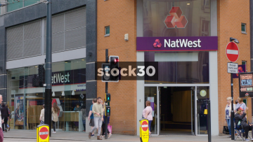 Natwest Bank On Market Street In Manchester, UK
