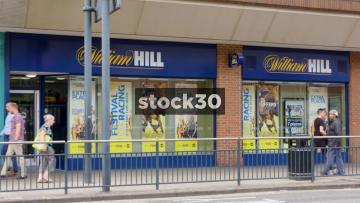 William Hill Bookmakers On Merrion Street In Leeds, UK
