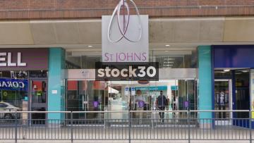 St John's Shopping Centre In Leeds, UK