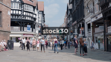 Chester Town Centre Shopping Area, UK
