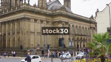 Leeds Town Hall Wide Shot & Clock Tower, UK