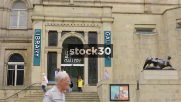 Leeds Art Gallery Entrance, UK