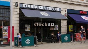Starbucks Coffee On The Headrow In Leeds, UK