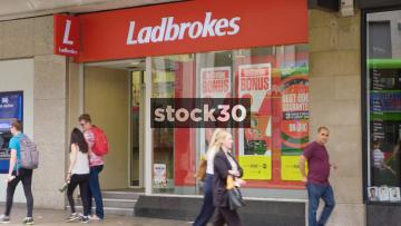 Ladbrokes Bookmakers On The Headrow In Leeds, UK