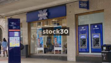 Halifax Bank On The Headrow In Leeds, UK