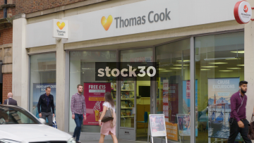 Thomas Cook Travel Agent On Albion Street In Leeds, UK
