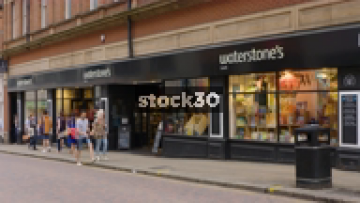 Waterstone's Book Shop On Albion Street In Leeds, UK