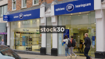 Boots Opticians And Hearingcare On Albion Street In Leeds, UK