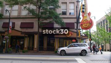 Hard Rock Cafe Restaurant On Peachtree Street In Downtown Atlanta, USA