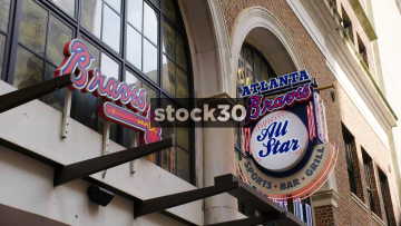 The Atlanta Braves All Star Grill On Peachtree Street In Atlanta, USA