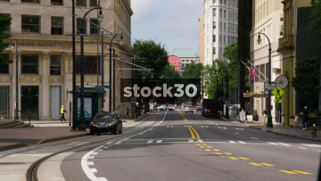 A View Down Peachtree Street In Atlanta, USA