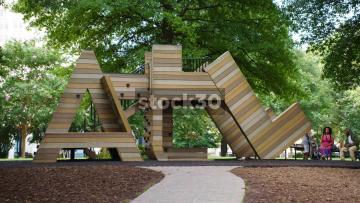 The ATL Playground In Woodruff Park, Atlanta, USA