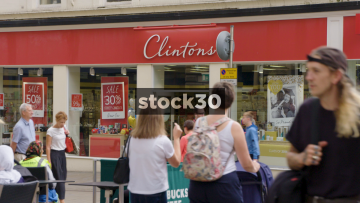 Clintons Cards On Commercial Street In Leeds, UK