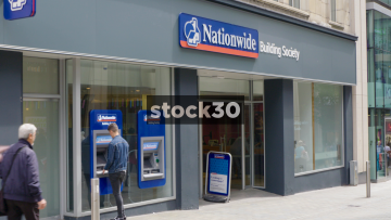 Nationwide Building Society On Albion Street In Leeds, UK