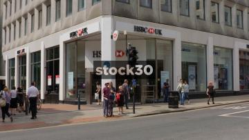 HSBC Bank On Parkrow In Leeds, UK