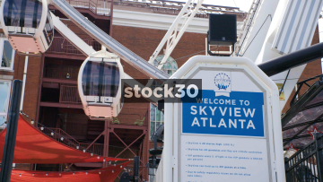 The Skyview Atlanta Wheel By Centennial Olympic Park Drive In Atlanta, USA