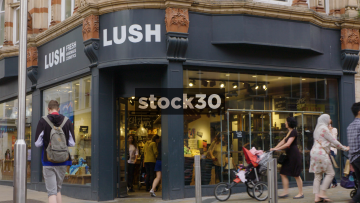 Lush Cosmetics On Commercial Street In Leeds, UK