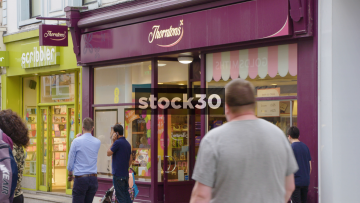 Thorntons On Commercial Street In Leeds, UK