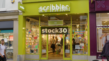 Scribbler Card Shop On Commercial Street In Leeds, UK