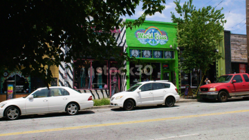 World Piece Tobacco Store On Euclid Avenue In Atlanta, USA