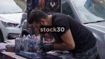 Street Artist In New York City, USA