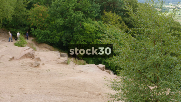Two Views Of Alderley Edge Sandstone Ridge, UK