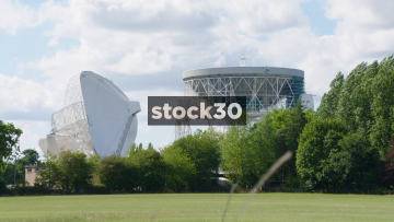 The Mark II And Lovell Radio Telescopes At Jodrell Bank Observatory In Cheshire, UK