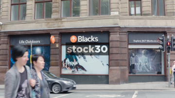 Blacks Outdoor Shop On Deansgate In Manchester, UK