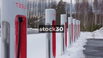 Tesla Super Charger Close Ups. Oslo, Norway