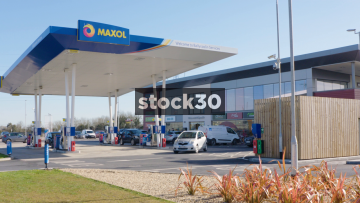 Wide shot of Maxol Ballycoolin services and petrol station in Dublin, Ireland