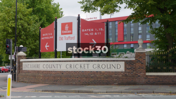 Old Trafford Cricket Ground In Manchester, UK