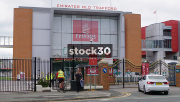 Old Trafford Cricket Ground Entrance In Manchester, UK