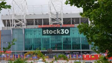 Old Trafford Football Stadium In Manchester, UK