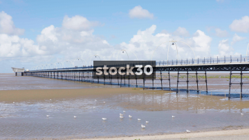 Southport Pier And Beach, UK