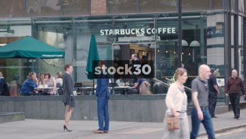 Starbucks Coffee On Deansgate In Manchester, UK