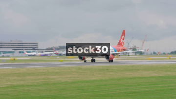 Air Malta Airbus A320-214 Taking Off At Manchester Airport