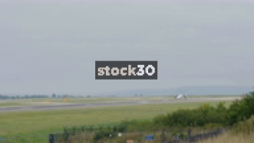 Flybe Bombardier Dash 8 Q400 Taking Off From Manchester Airport, UK